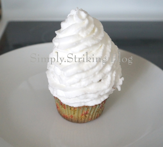 cupcake with meringue iced