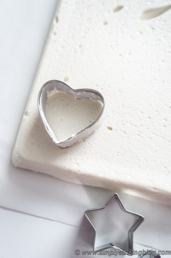 marshmallow cookie cutter cutting