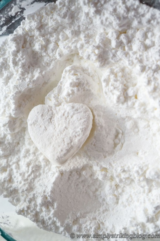 marshmallow shape powdered