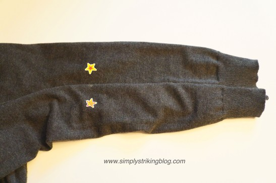 patch measuring sleeve length