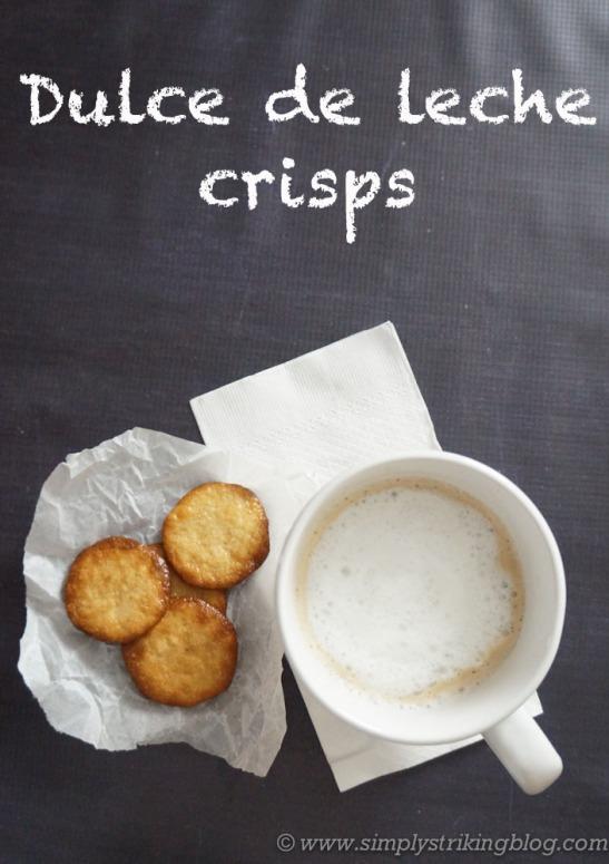 dulce de leche crisp cookies