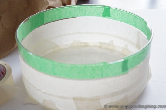 glass bowl taped