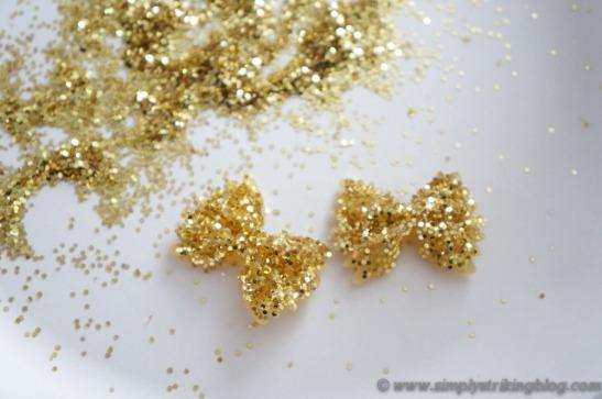 hair bows glitter_