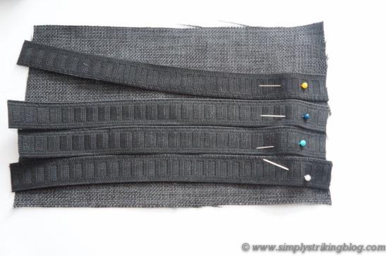 organizer pinning elastics