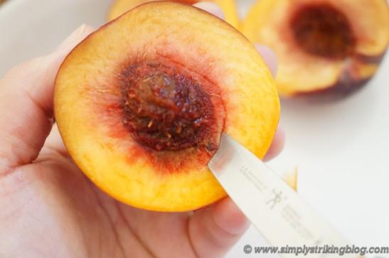 peaches pitting