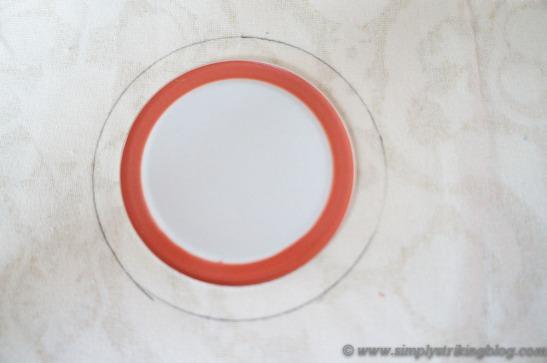sewing kit draw circle