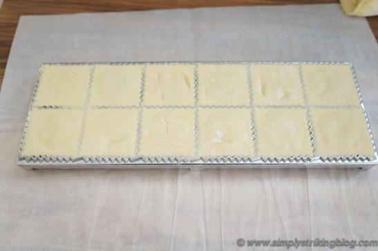 apple ravioli cut on plate