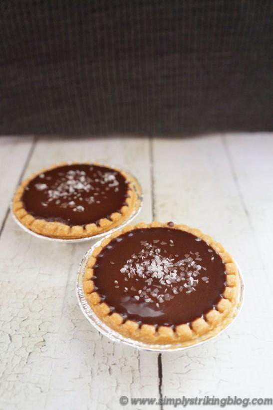chocolate tart finished