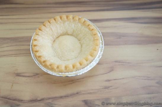 chocolate tart pie crust baked