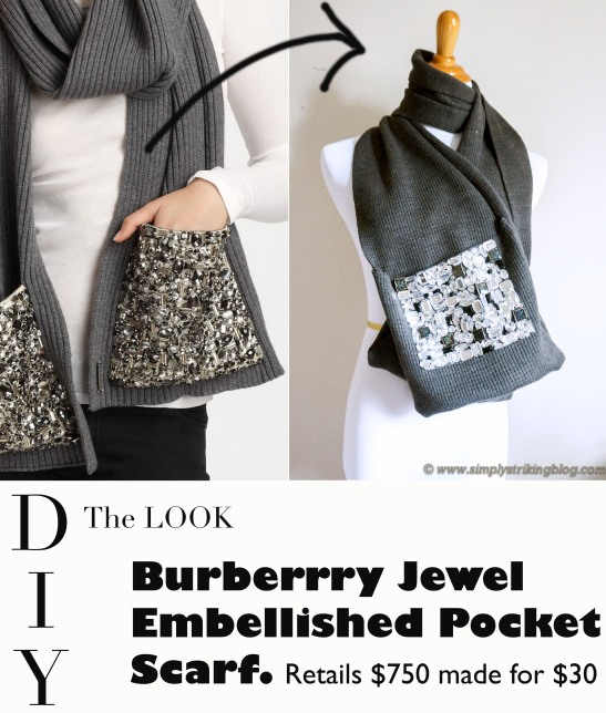 DIY Burberry inspired jewel scarf