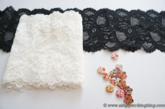 lace cuff supplies