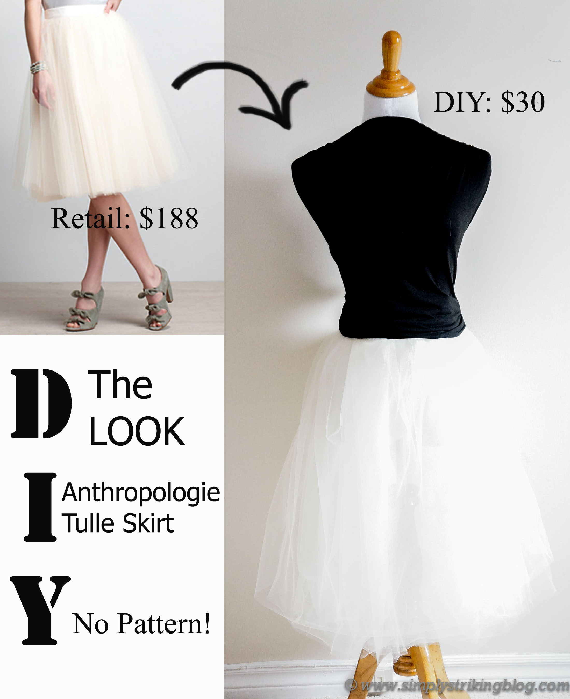 DIY The Look: Anthropologie Tulle Skirt – No Pattern ...