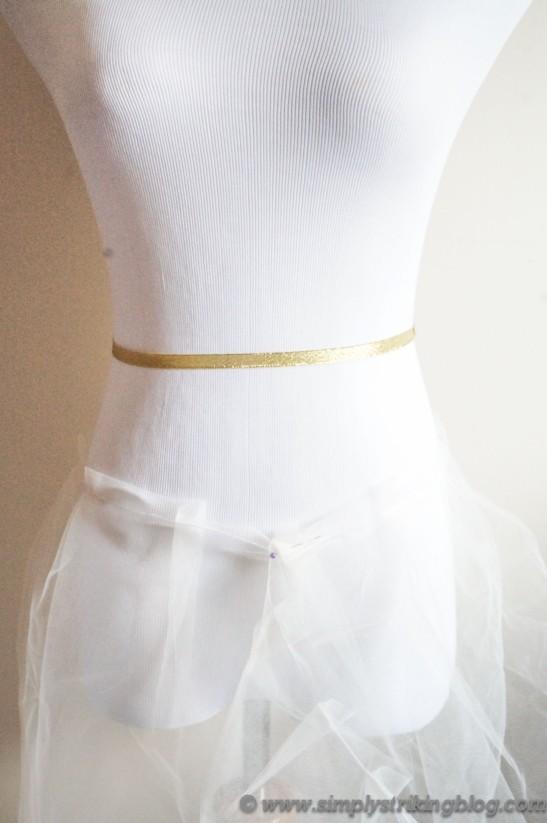 tulle skirt draping