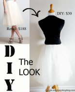 DIY Anthropologie tulle skirt for women
